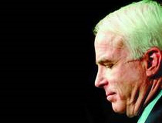 Bush krijgt steun van senator John McCain