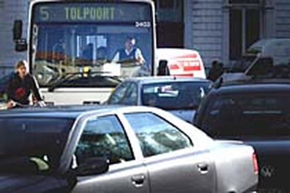 Staking trams en bussen in Gent