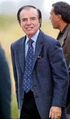 Ex-Argentijnse president Menem terug thuis na ballingschap