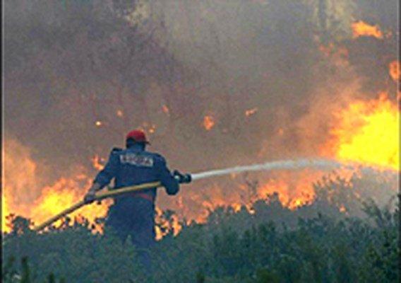 1.800 mensen vluchten voor bosbrand