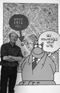 Philippe Geluck en zijn Kat.