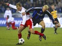 Lange in duel met Laybutt. Club Brugge speelt de finale van de Beker van België.