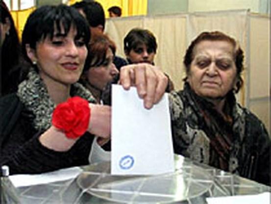 Alle zetels voor Nationale Beweging van Saakasjvili