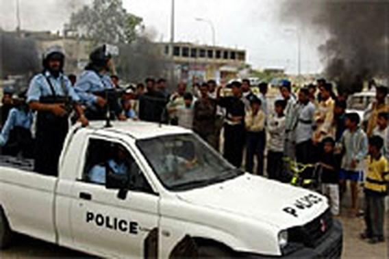 Gewonden bij botsingen in Basra