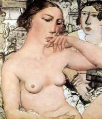 Paul Delvaux, ,,Dromende jonge vrouw (Tam)'', 1931.