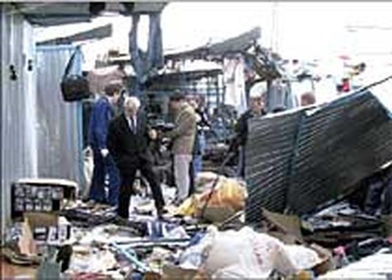 Elf doden bij explosie op Russische markt