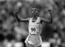 Elvan Abeylegesse verpulverde vrijdag het wereldrecord op de 5.000 meter bij de vrouwen.
