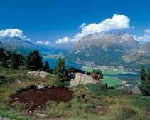 Silvaplana, Zwitserland, waar Nietzsche bij een rondgang zijn inzicht in de 'Eeuwige Wederkeer' kreeg.
