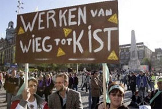 ACV en ABVV betoogden mee in Amsterdam