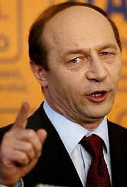 Traian Basescu: man met een in de Roemeense politiek zeldzaam gevoel voor humor.