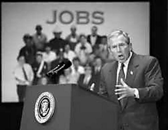 Bush wil aan pensioenen knabbelen