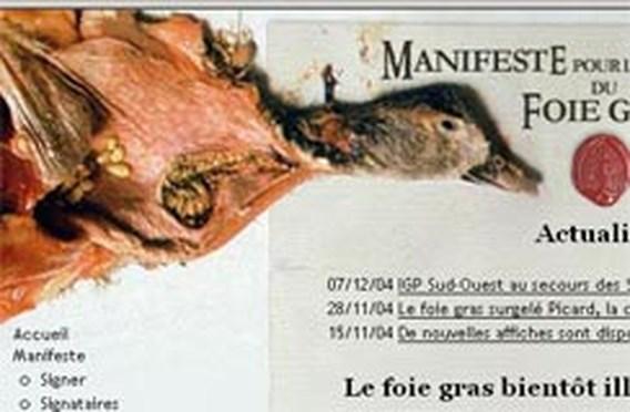 Actie tegen dwangvoederen eenden voor foie gras