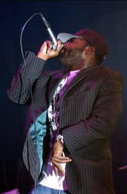 Black Thought, de frontman van The Roots, in de AB.