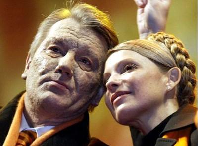 Joesjtsjenko en Timosjenko in betere tijden.