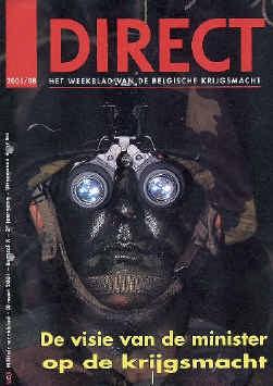Minister van Defensie Flahaut was zwaar beledigd door deze cover van ,,Direct''. De hoofdredacteur kon ophoepelen.
