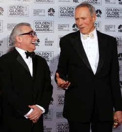Martin Scorsese (links) en Clint Eastwood kwamen elkaar al tegen bij de Golden Globes, en zijn ook voor de Oscars de twee grote rivalen.