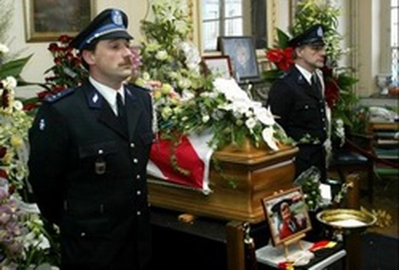 Guy Mathot begraven