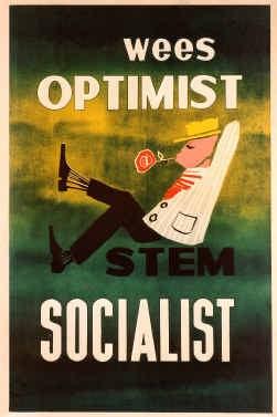 Verkiezingsaffiche van de BSP uit 1965.