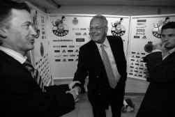 Marc Degryse (links) met Anderlecht-voorzitter Vanden Stock: ,,Op commercieel vlak kunnen we nog de grootste vooruitgang boeken.''
