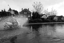 In Koksijde veroorzaakten de plotse buien heel wat wateroverlast.