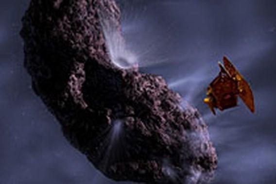 Ruimtesonde ingeslagen op komeet