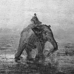Fragment van 'De olifant' van Félix Philibert Ziem.