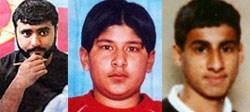 Zelfmoordactivisten Mohammad Sidique Khan,Hasib Mir Hussain en Shehzad Tanweer