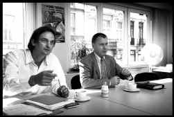 Dirk Van Maele (links) en Wim Bontinck: partners in de strijd tegen hetzelfde onrecht.