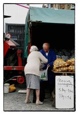 De landbouwers kunnen uit de boerenmarkt een extra inkomen halen.