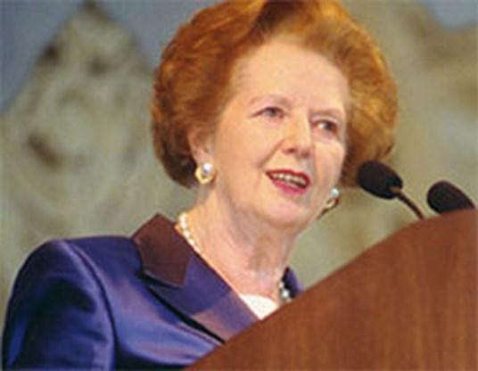 Jarige Thatcher maakt politiek statement