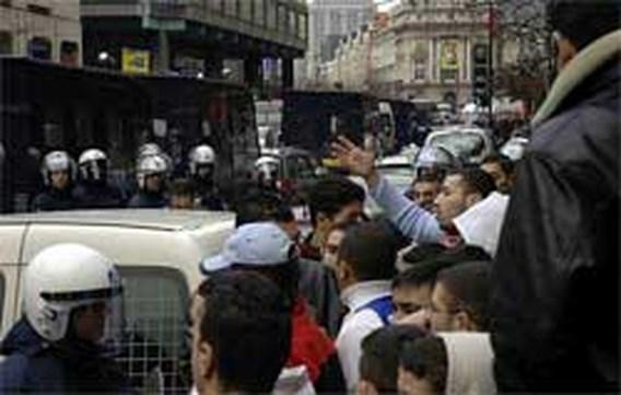 Betogingen tegen spotprenten in Antwerpen en Brussel