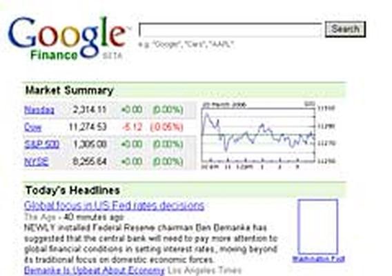 Google lanceert financiële nieuwssite