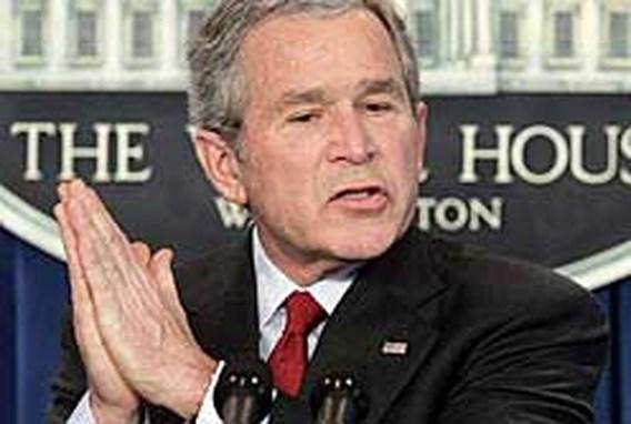 Bush waarschuwt voor chantage Iran