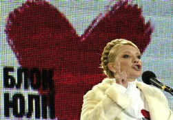 Julia Timosjenko: ,,Onder Janoekovitsj zal ons land opnieuw wegzinken in zijn donkerste Sovjetverleden.''