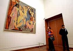 ,,Les demoiselles d'Avignon'' van Picasso, hier op een tentoonstelling in Istanbul.