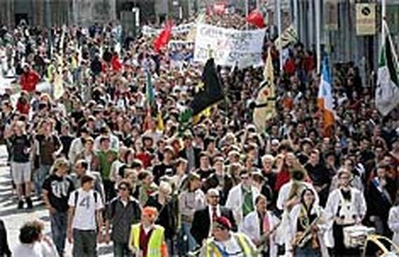 8.000 studenten betogen in Gent