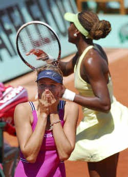 Nicole Vaidisova kan amper geloven dat ze in de halve finale zit. ,,Ik denk nog niet aan Kuznetsova, laat me nog even dromen.''