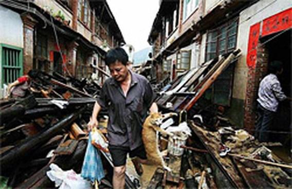 Tropische storm Bilis eiste al 612 doden in China