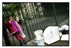 De Geelhandplaats is één van de buurten waar Mieke Vogels' systeem van gescheiden vuil ophaling niet werkt.