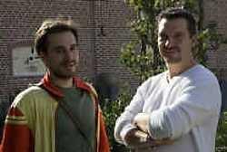 Nicolas Guiot en Rik Van de Wouwer, beiden blij verrast met hun prijs.