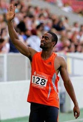 Tyson Gay loopt 3e snelste 200 m ooit