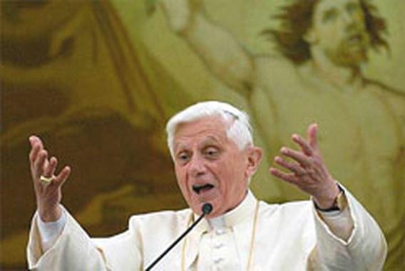 Paus noemt voorgeborchte voorbijgestreefd