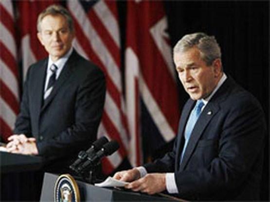 Bush ontvangt Blair in volle herziening Irakpolitiek