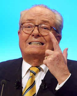 Jean-Marie Le Pen, leider van het Front National.