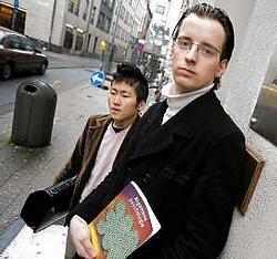 Jaimy De Clerck (links) en Olaf de Vries: ,,Wij moeten toch niet boeten voor andermans fout?''  Wim Kempenaers<br>