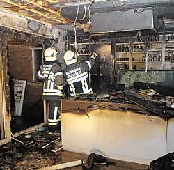 De keuken is helemaal vernield.  Frank Meurisse<br>