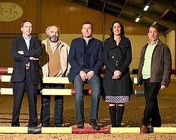 Ludo Philippaerts (midden)<br> en de organisatoren: ,,Jumping Hasselt <br>heeft ertoe bijgedragen<br> dat de interesse voor de paardensport<br> in Limburg groter werd.'' <br> Yorick Jansens<br>