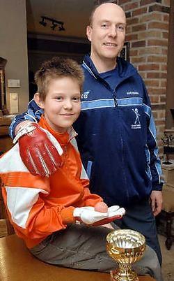 Organisator Johan Vanderstricht supportert dit weekend ongetwijfeld voor zoon Jordi, die deelneemt aan het internationale kaatstoernooi.Yvan De Saedeleer