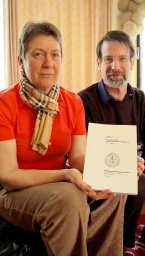 Mia Kerstens en Wilbert De Leyn presenteren voor de 22ste keer het jaarboek van Belledaal.Rudy De Saedeleir<br>