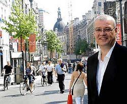 Philippe Thewissen stelde gisteren het feestprogramma ter ere van het 750-jarig bestaan van de Meir voor. Koen Fasseur <br>